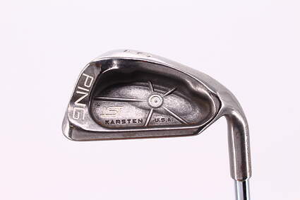 Ping ISI Single Iron 9 Iron Stock Steel Shaft Steel Stiff Right Handed White Dot 36.5in