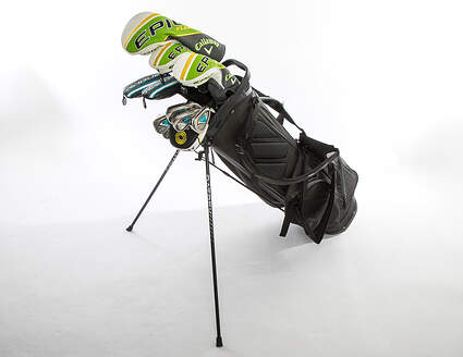 Callaway Ladies Complete Golf Club Set Right Handed Epic Flash Driver & Woods Rogue Irons Odyssey Stroke Lab Putter w/ Bag MSRP $ 2779.99