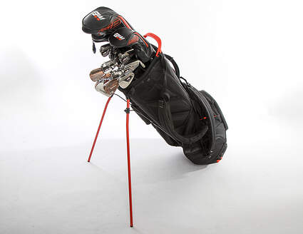 TaylorMade M6 Mens Complete Golf Club Set Stiff Flex Right Handed Driver Hybrid Fairway Spider Putter Bag