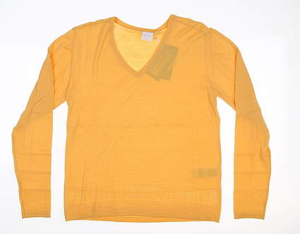 New Womens Ping Bonnie Sweater Size 6 (Small) Sunset Gold S93375 MSRP $85