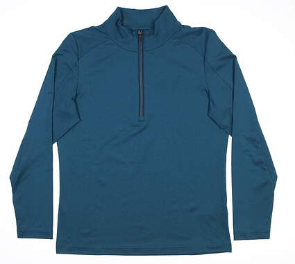 New Womens Ping Astrid 1/4 Zip Pullover Small S Teal S93402 MSRP $79