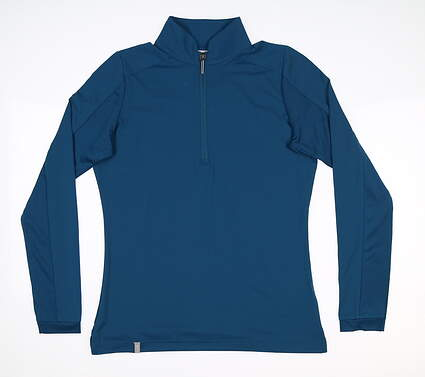 New Womens Ping Melrose 1/4 Zip Pullover Size 2 (X-Small) Teal P93398 MSRP $75