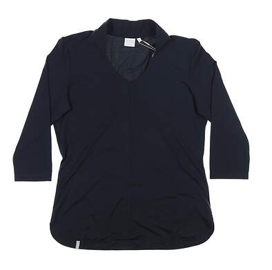 New Womens Ping 3/4 Sleeve Top Size 6 (Small) Navy Blue S93416 MSRP $69