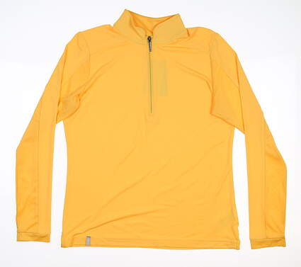 New Womens Ping Melrose 1/4 Zip Pullover Small S Sunset Gold S93398 MSRP $75