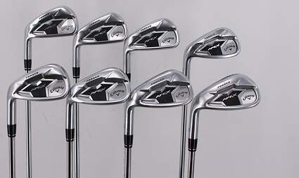 Callaway Apex 19 Iron Set 5-PW GW SW True Temper Elevate 95 Black Steel Stiff Left Handed 38.0in