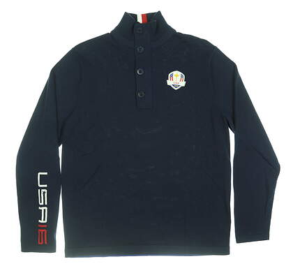 New Mens Ralph Lauren RLX Sweater Large L Navy Blue MSRP $245