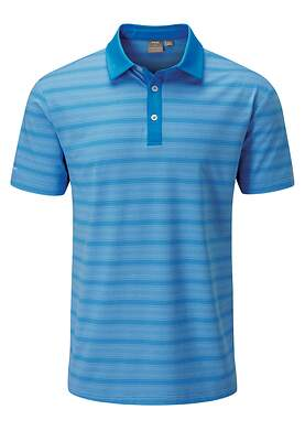 New Mens Ping Eugene Polo X-Large XL Sky Azure Multi P03386 MSRP $69