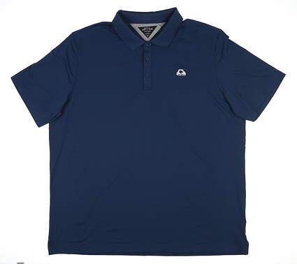New W/ Logo Mens Adidas Tech Golf Polo XX-Large XXL Blue DT3389 MSRP $100