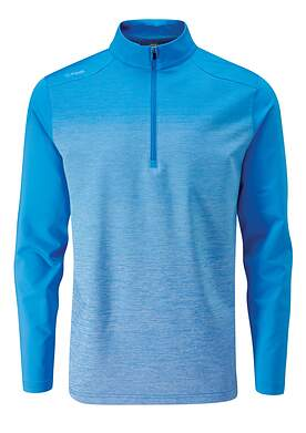 New Mens Ping Fracture 1/4 Zip Pullover Large L Sky Azure P03349 MSRP $109
