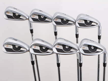 Ping G400 Iron Set 5-PW GW SW Ping Z-Z65 with Cushin Insert Steel Stiff Right Handed Black Dot 38.25in