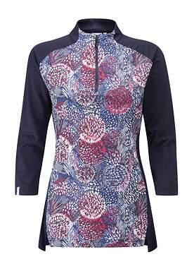 New Womens Ping 3/4 Sleeve Mock Size 2 XS Flouirish P93442 MSRP $89