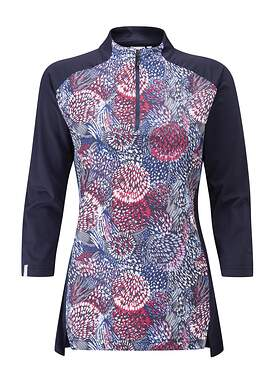 New Womens Ping Elka 3/4 Sleeve Mock Size 6 (Small) Flourish P93442 MSRP $89
