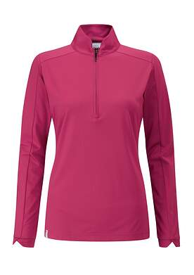 New Womens Ping Melrose 1/4 Zip Pullover Size 2 (X-Small) Red Bud P93398 MSRP $75