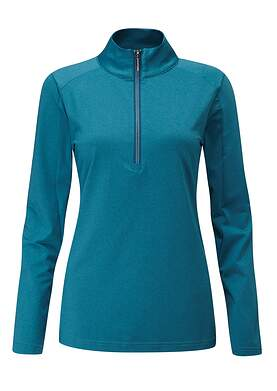 New Womens Ping Astrid 1/4 Zip Pullover Size 4 (Small) Teal P93402 MSRP $79