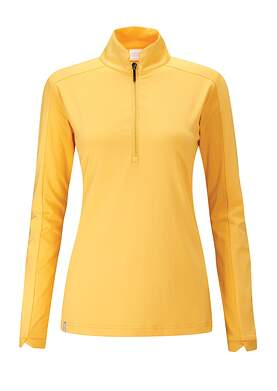 New Womens Ping Melrose 1/4 Zip Pullover Size 6 (Small) Sunset Gold P93398 MSRP $75