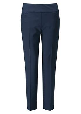 New Womens Ping Adele Cropped Pants 10 Navy Blue P93400 MSRP $79
