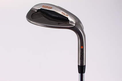 Ping Tour Gorge Wedge Lob LW 58° Wide Sole Ping CFS Steel Stiff Right Handed Orange Dot 35.0in