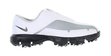 New Junior Golf Shoe Nike TW Medium 5 White/Grey MSRP $60 339114_191