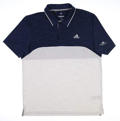New W/ Logo Mens Adidas Ultimate 365 Golf Polo Large L Multi DM3012 MSRP $65