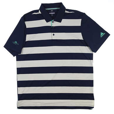 New W/ Logo Mens Adidas Rugby Golf Polo Large L Multi CD3359 MSRP $75