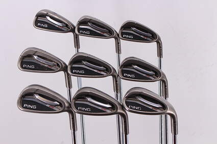 Ping G25 Iron Set 4-PW SW LW Ping CFS Steel Stiff Right Handed Black Dot 38.0in