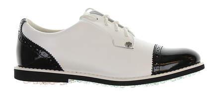 New Womens Golf Shoe G-Fore Cap Toe Gallivanter Medium 8.5 White/Black G4LC0E MS
