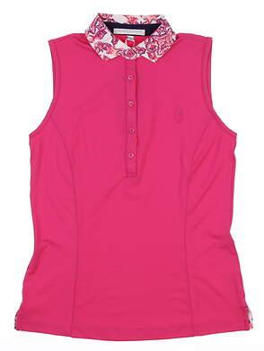New W/ Logo Womens Fairway & Greene Sleeveless Polo Golf X-Small XS Cha Cha H12220 MSRP $100