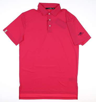 New W/ Logo Mens Ralph Lauren RLX Golf Polo Small S Pink MSRP $98