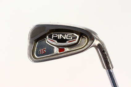 Ping i15 Single Iron 6 Iron True Temper Dynamic Gold S300 Steel Stiff Right Handed Black Dot 37.25in
