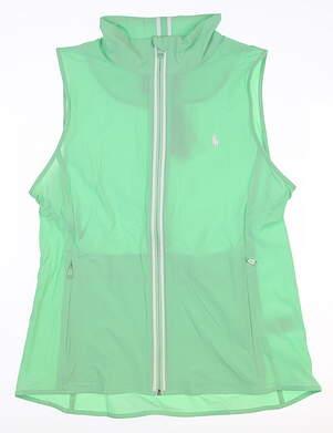 New Womens Ralph Lauren Tech Stretch Vest Large L Green MSRP $165