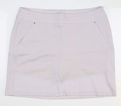 New Womens Greg Norman Golf Skort Large L White G2S6H496 MSRP $70