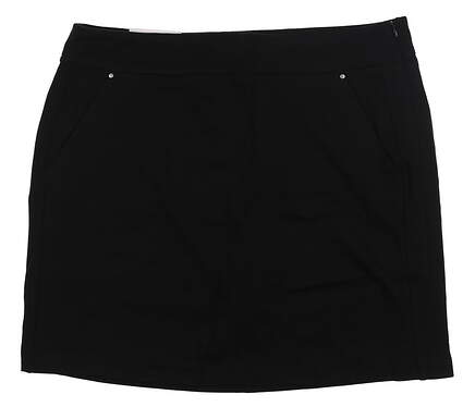 New Womens Greg Norman Golf Skort Large L Black G2S6H496 MSRP $70