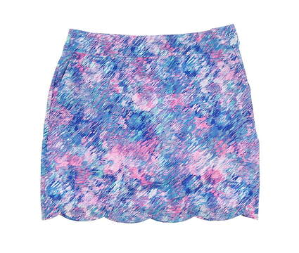 New Womens EP NY Skort 4 Aqua Multi 1241NBD MSRP $89