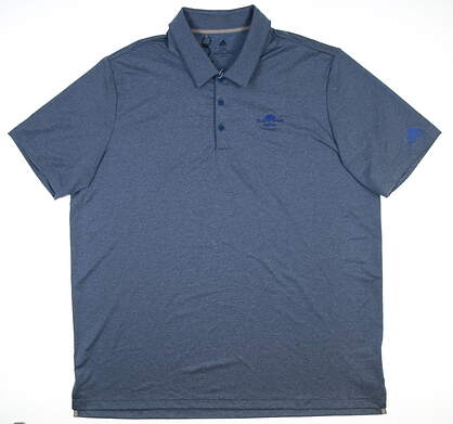 New W/ Logo Mens Adidas Golf Polo XX-Large XXL Blue DQ2369 MSRP $65