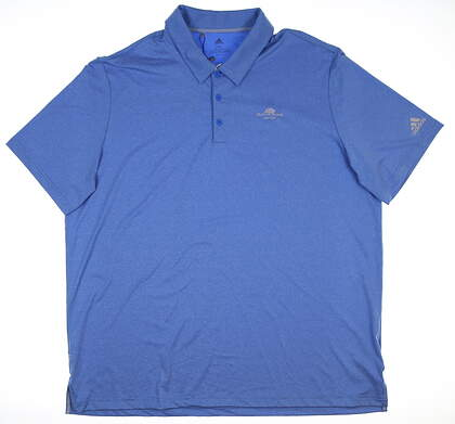 New W/ Logo Mens Adidas Golf Polo XX-Large XXL Blue DQ2366 MSRP $65