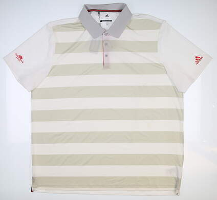 New W/ Logo Mens Adidas Rugby Golf Polo XX-Large XXL White CD3360 MSRP $75