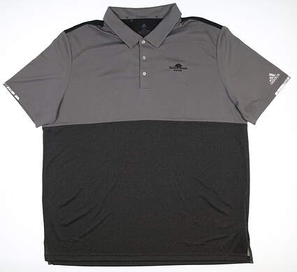 New W/ Logo Mens Adidas Golf Polo XX-Large XXL Gray DQ2244 MSRP $85