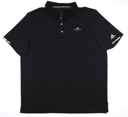 New W/ Logo Mens Adidas Golf Polo XX-Large XXL Black DQ2251 MSRP $80