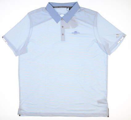 New W/ Logo Mens Adidas Golf Polo XX-Large XXL Blue EC6794 MSRP $80