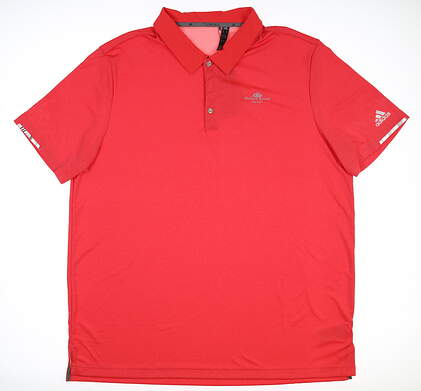 New W/ Logo Mens Adidas Golf Polo XX-Large XXL Red DQ2249 MSRP $80