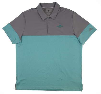 New W/ Logo Mens Adidas Golf Polo X-Large XL Multi DQ2231 MSRP $65