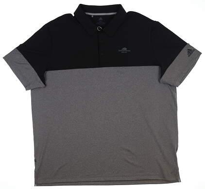 New W/ Logo Mens Adidas Golf Polo XX-Large XXL Black DQ2233 MSRP $65