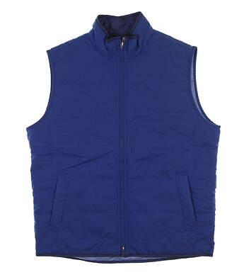 New Mens Peter Millar Shoreline Gilet Vest Medium M Blue Diamond MS17Z10 MSRP $195