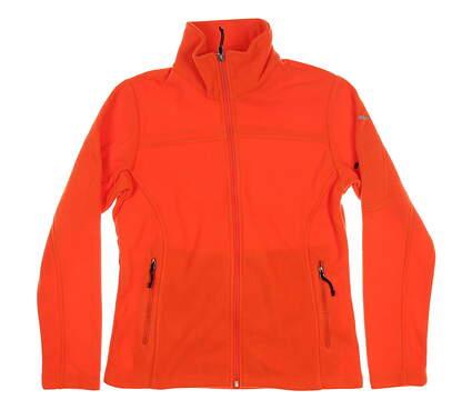 New Womens Columbia Fleece Jacket Small S Orange C1277WF MSRP $70