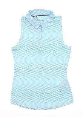 New Womens Under Armour Sleeveless Polo X-Small XS Blue MSRP $72