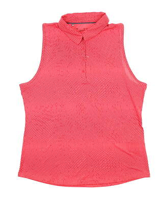 New Womens Under Armour Sleeveless Polo X-Large XL Pink UW0472 MSRP $72