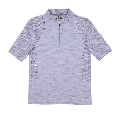 New Womens Under Armour Golf Polo X-Small XS Purple UW0464 MSRP $72