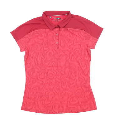 New Womens Under Armour Golf Polo X-Small XS Pink UW0473 MSRP $72