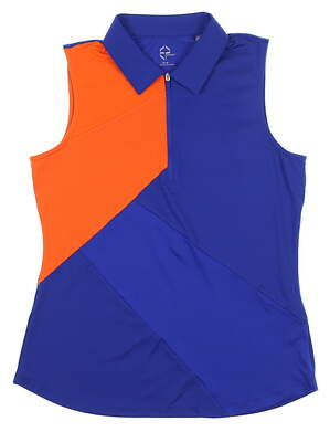 New Womens EP Pro Sport Chromatic Sleeveless Polo Medium M Blue 9195SEA MSRP $70