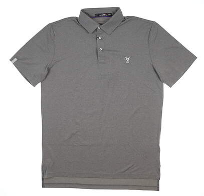 New W/ Logo Mens Ralph Lauren RLX Golf Polo Medium M Gray MSRP $98